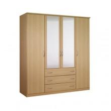 Платяной шкаф с четырьмя створками «Классик»  с ящиками