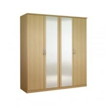 Платяной шкаф с четырьмя створками «Классик» с зеркалами